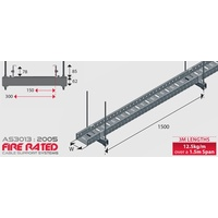 Fire Rated Cable Tray - 300mm x 78mm x3mL- 12.5kg/m
