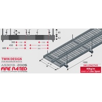 Fire Rated Cable Tray - 300mm x 78mm x3mL- 40kg/m