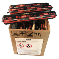 Bostik Fireban Acrylic LIMESTONE Box of 20 fire rated sealant 600ml Sausage